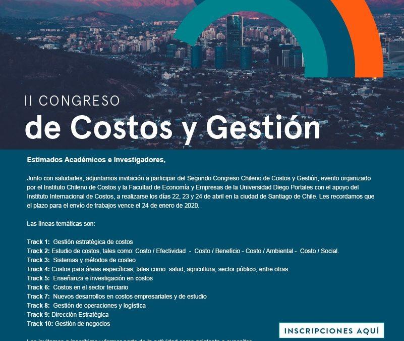 Presentación del II Congreso del Instituto Chileno de Costos