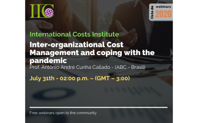 Cycle of free webinars: Management of inter-organizational costs and coping with the Pandemic (July 31)