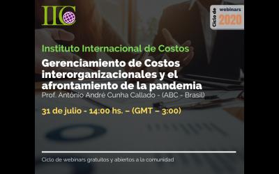 Ciclo de webinars gratuitos: Gerenciamiento de costos interorganizacionales y el afrontamiento de la Pandemia (31 de julio)