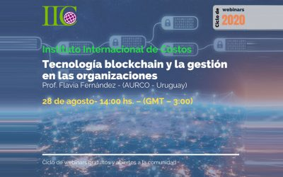 Cycle of free webinars (IIC): Blockchain technology and management in organizations (August 28)