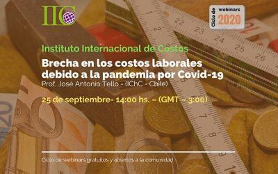 5to. Webinar: Brecha en los costos laborales debido a la pandemia por Covid-19 (25/9)
