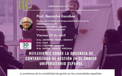 Webinar: Docencia de Contabilidad de Gestión en el ámbito universitario español