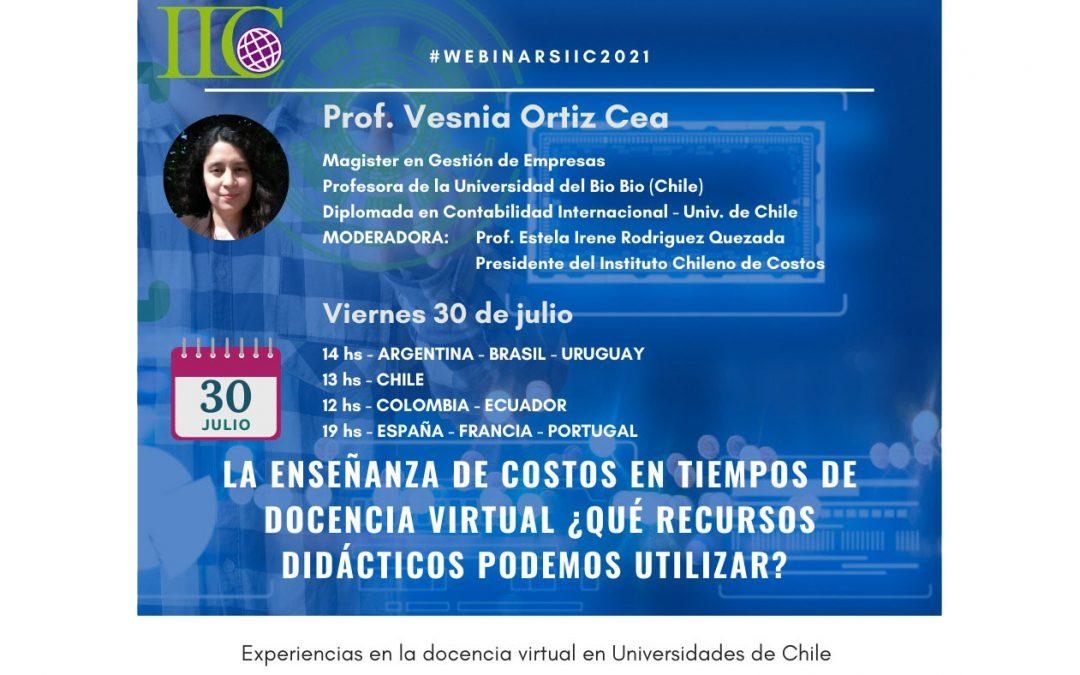 """5to webinar 2021: """"La enseñanza de costos en tiempos de docencia virtual: ¿Qué recursos didácticos podemos utilizar?"""""""