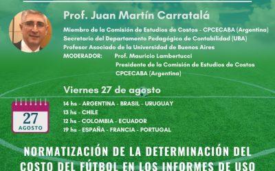 """6to. webinar 2021: """"Normatización de la determinación del costo del fútbol en los informes de uso de terceros"""""""